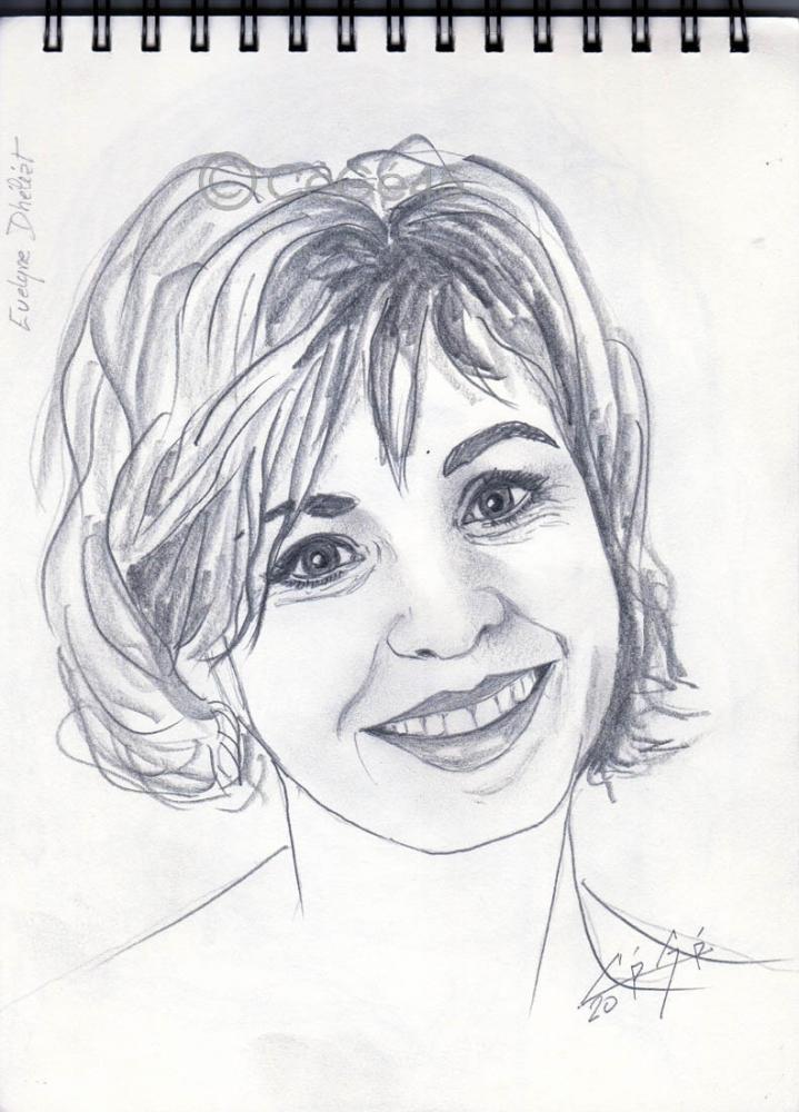Evelyne Dhéliat por CeGe